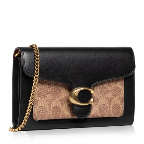 Colorblock Signature Tabby Chain Clutch